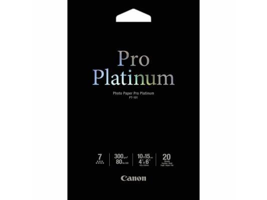 Бумага Canon PT-101 10х15см 300 г/кв.м глянцевая 20л бумага цв а4 20л 10цв хобби тайм 2 вида