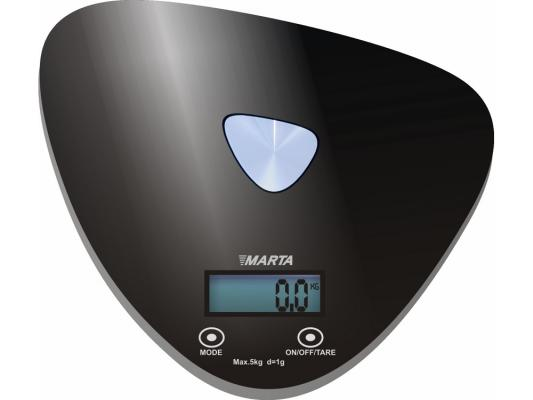 Весы кухонные Marta MT-1632 чёрный