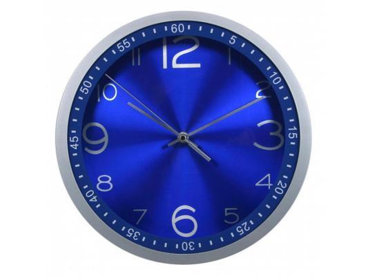 Часы Бюрократ WALLC-R05P настенные аналоговые синий томас р вспышка страсти роман