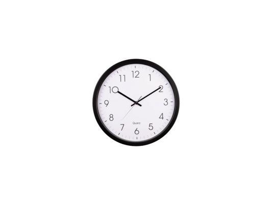 цена Часы Hama PG-350 H-113976 настенные аналоговые пластик черно-белый