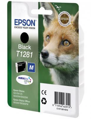 Картридж Epson C13T12814010/4011/4012 для Stylus S22/SX125/SX420W/SX425W/Office BX305F/305FW черный картридж colouring cg 1282 cyan для epson s22 sx125 sx130 sx420w sx425w office bx305f bx305fw