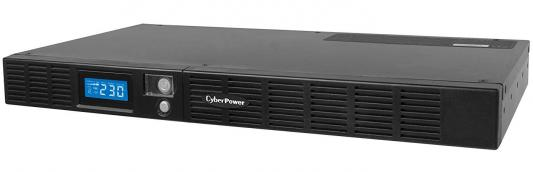ИБП CyberPower 600VA OR 600 LCD 1Unit line-interactive OR600ELCDRM1U черный ибп cyberpower bu600e 600va 360w 3 euro