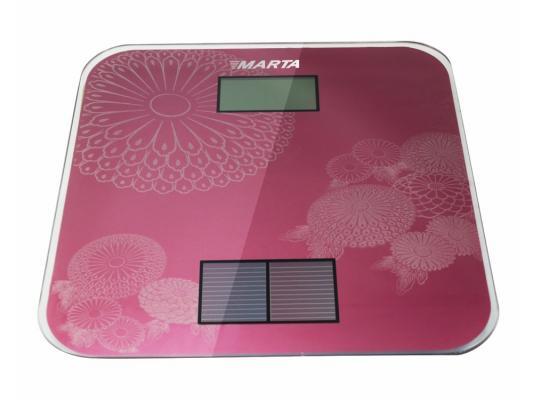 Весы напольные Marta MT-1663 розовый электронные напольные весы marta mt 1663 титан