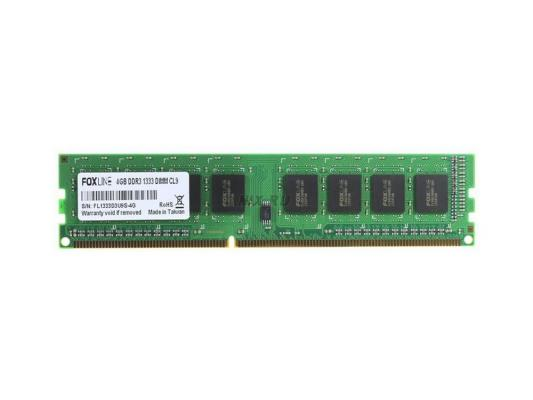 Оперативная память 4Gb PC3-10600 1333MHz DDR3 DIMM Foxline FL1333D3U9-4GS FL1333D3U9S-4G CL9