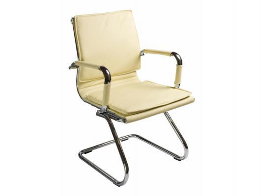Кресло Buro CH-993-Low-V/Ivory низкая спинка слоновая кость искусственная кожа полозья хром бинокль или монокуляр