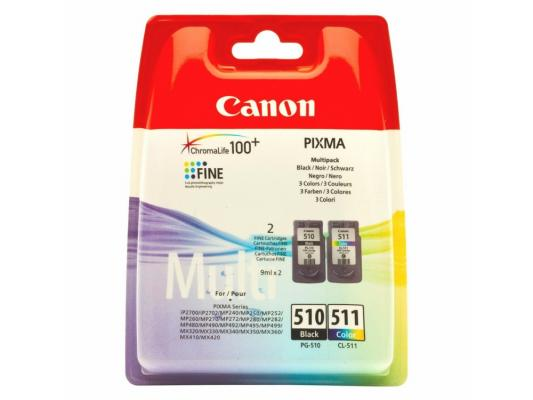 Картридж Canon PG-510/CL-511 Multipack для PIXMA MP240/260/480/ MX320/330 картридж canon pg 510 cl 511 multipack для pixma mp240 260 480 mx320 330