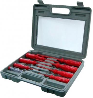Набор отверточный Fit CrV изолированные в чемоданчике 7 +1 шт индикаторная 56127 цены