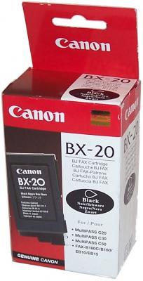 Картридж Canon BX-20 для B210/B230/EB10/15/ C20/C50/C70/C80 черный 900стр canon bx 20