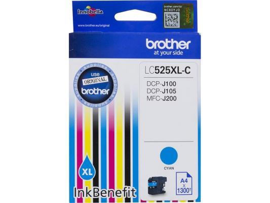 Картридж струйный Brother LC525XLC картридж струйный brother lc985y
