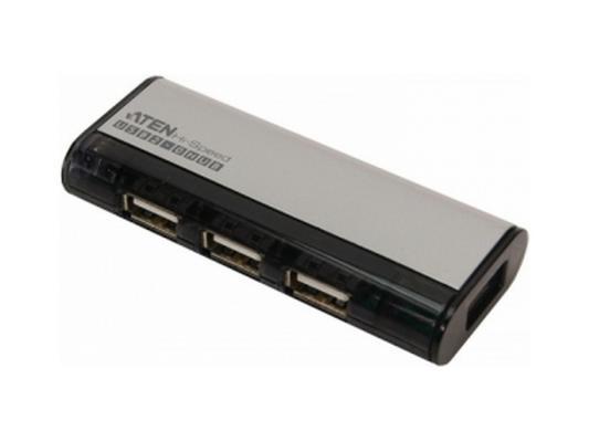 Концентратор USB 2.0 Aten UH284Q6/UH284Q9Z 4 x USB 2.0 черный
