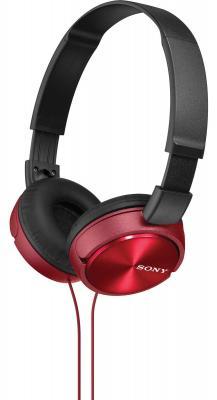 Наушники Sony MDR-ZX310 красный sony mdr zx310 w white