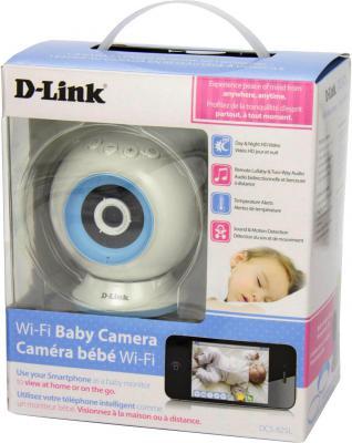 "Камера IP D-Link DCS-825L CMOS 1/4"" 1280 x 720 H.264 Wi-Fi белый"
