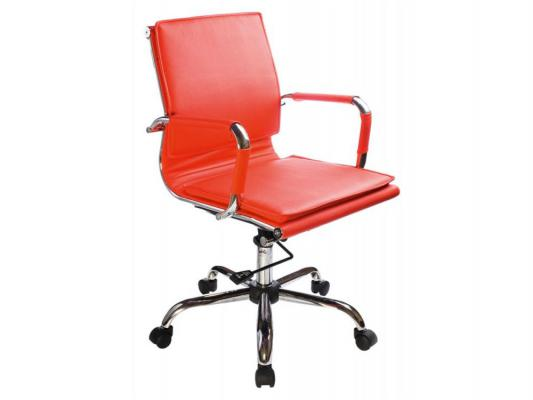 Кресло Buro CH-993-Low/Red низкая спинка крестовина хром кожа красный кресло бюрократ ch 993 low v красный