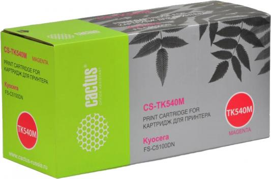 Тонер-картридж Cactus CS-TK540М для FS-C5100DN пурпурный 4000стр valberg гарант 32
