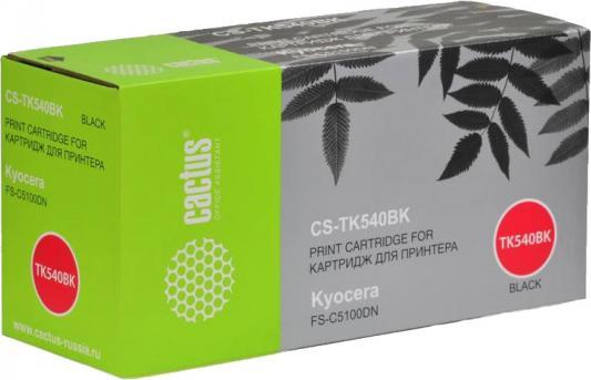 цена на Тонер-картридж Cactus CS-TK540Bk для FS-C5100DN черный 5000стр