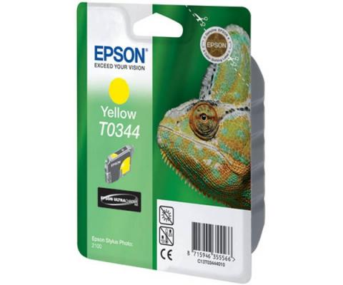 Картридж Epson C13T03444010 для Epson Stylus Photo 2100 желтый 440стр картридж epson t009402 для epson st photo 900 1270 1290 color 2 pack