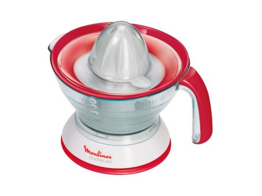Соковыжималка Moulinex PC300110 — пластик белый красный кухонная машина moulinex qa50adb1