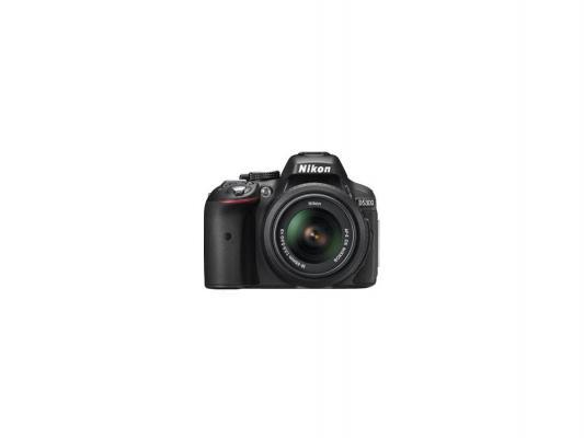 Зеркальная фотокамера Nikon D5300 Kit DX 18-55 VR II 24.1Mp черный