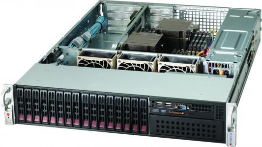 лучшая цена Серверный корпус 2U Supermicro CSE-213A-R740WB 740 Вт чёрный CSE-213A-R740WB