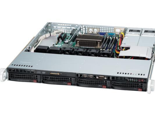 Серверный корпус 1U Supermicro CSE-813MTQ-R400CB 400 Вт чёрный цена