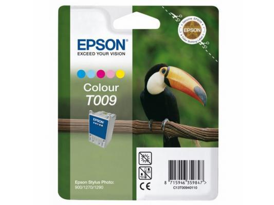 Картридж Epson C13T00940110 для Stylus Photo 900/1270/1290 цветной 330стр картридж epson c13t00940210 t00940210 для stylus photo 900 1270 1290c colour цветной 2 шт