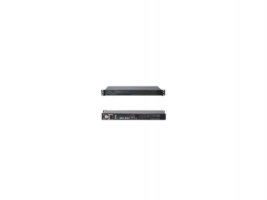 "Серверная платформа SuperMicro SYS-5015A-EHF-D525 1U D525 ICH9R 2xDDR3 1xPCI-Ex4 1x3.5"" SATA 2xGigabit SVGA 200 Вт"