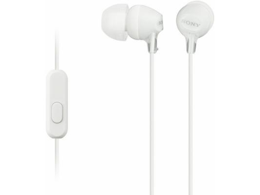 Гарнитура Sony MDR-EX15APW/Z белый гарнитура sony mdr ex15apw white