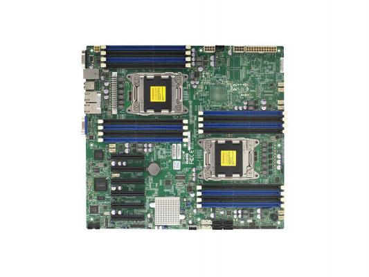 Материнская плата для ПК Supermicro MBD-X9DRD-EF-O 2 х Socket 2011 C602J 16хDDR3 6xPCI-E 8x 4xSATA II 2xSATAIII EATX Retail