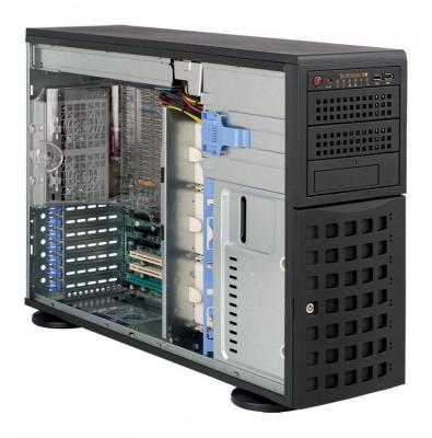 Серверный корпус E-ATX Supermicro CSE-745TQ-R800B 800 Вт чёрный серверный корпус e atx supermicro cse 745tq r920b 920 вт чёрный