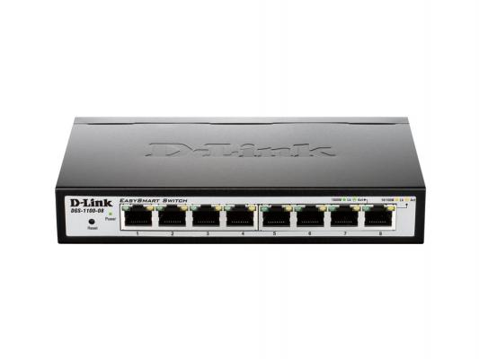 Коммутатор D-LINK DGS-1100-08/A1A управляемый 8 портов 10/100/1000MbpsEasy Smart Gigabit Ethernet Switches with Web