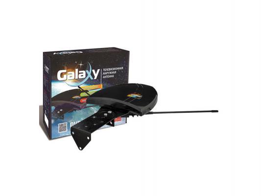 Телевизионная антенна РЭМО Galaxy Антенна всеволновая малогабаритная телевизионная наружная с усилителем для приема DVB-T2