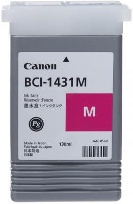 Картридж Canon BCI-1431M для W6200 W6400 пурпурный картридж для плоттера canon bci 1431 black