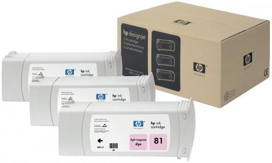 Картридж HP C5071A №81 для Deskjet 5000/5500 светло-пурпурный 680мл 3шт картридж hp c9429a 85 deskjet 30 130 светло пурпурный
