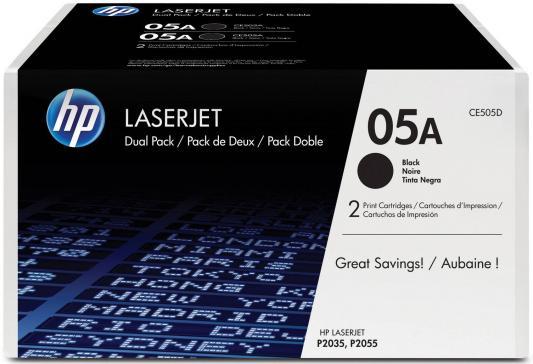 Картридж HP CE505D для LaserJet P2055/P2035 черный 2300стр картридж hp ce505a для hp laserjet p2035 2055 ce505a