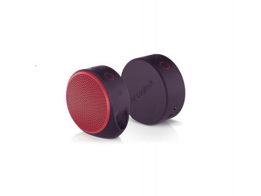 Портативная акустика Logitech X100 Mobile Speaker красный 984-000366