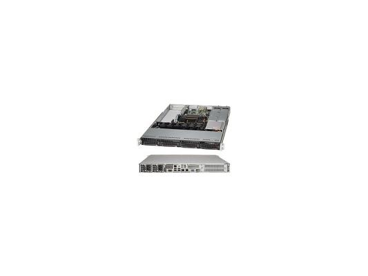 Серверный корпус Supermicro CSE-815TQ-R700WB 1U E-ATX 12''x13'' 4x3.5'' HotSwap SAS/SATA SES2 700Вт черный