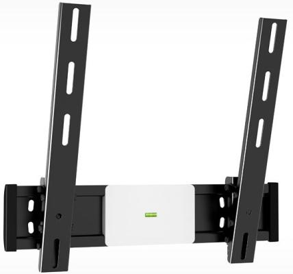 "Кронштейн Holder LCD-T4612-B черный для ЖК ТВ 32-65"" настенный от стены 68мм наклон -8°/+17° VESA 400x400 до 40 кг кронштейн жк плазма 20 40 накл черный holder"