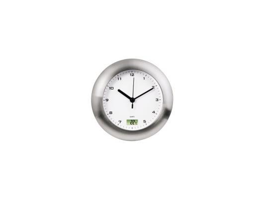 Часы Hama H-113914 Bathroom настенные аналоговые цифровой термометр защита от влаги серебряный настенные часы hama bathroom h 113914 аналоговые серебристый