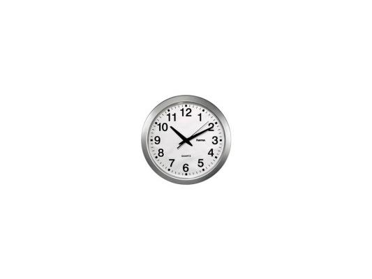 все цены на Часы Hama H-92645 CWA100 настенные аналговые пластик белый/серебристый