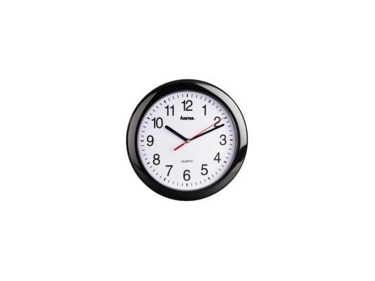 все цены на Часы Hama H-113920 PP-250 настенные аналоговые пластик черный онлайн