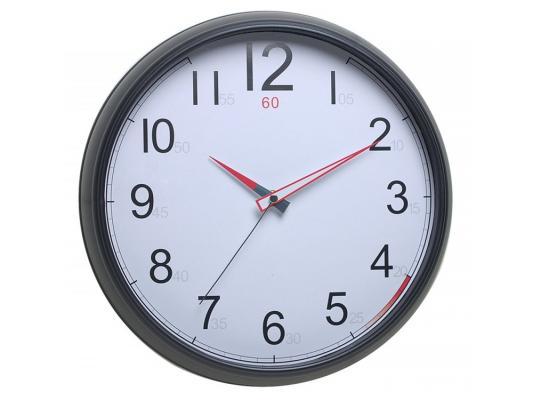 Часы Бюрократ WallC-R08P/black настенные аналоговые черный