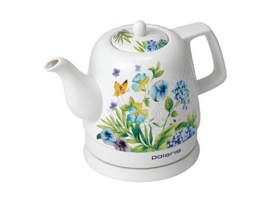 Чайник Polaris PWK1299CCR 1400 Вт белый 1.2 л керамика обогреватель polaris pch 1024 белый