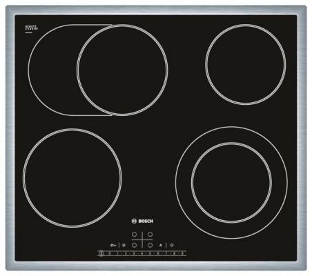 Варочная панель электрическая Bosch PKN645F17R черный варочная панель электрическая smeg se364td черный