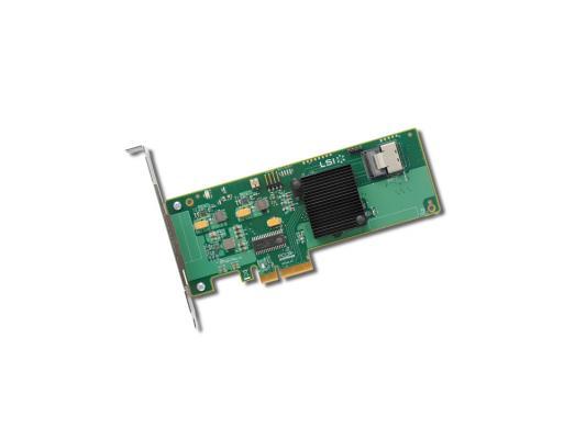 Контроллер LSI SAS 9211-4I SGL LSI00190 контроллер sas sata lsi megaraid sas9300 8i pci e 3 0 x8 lp sgl lsi00344