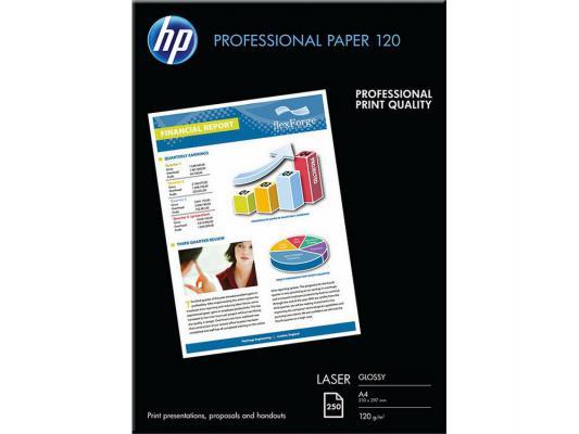 Фотобумага HP A4 210x297мм 120г/м2 двухсторонняя для лазерной печати глянцевая CG964A цена