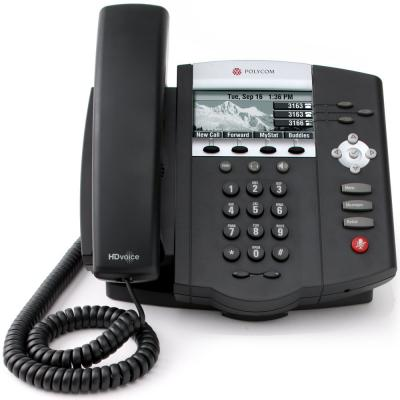 Фото - Телефон IP Polycom SoundPoint IP 450 SIP 3 линии черный 2200-12450-114 проводной и dect телефон foreign products vtech ds6671 3