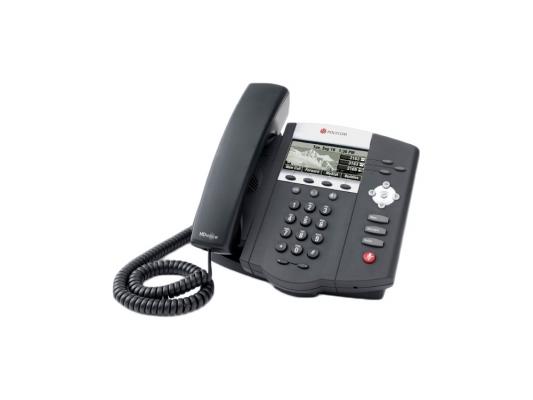 Телефон IP Polycom SoundPoint IP 450 SIP 3 линии черный 2200-12450-114