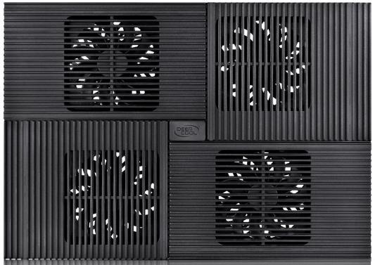 """Купить со скидкой Подставка для ноутбука 17"""" Deepcool MULTI CORE X8 381x268x29mm 2xUSB 1290g Fan-control 23dB чер"""
