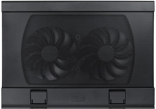 """Подставка для ноутбука 17"""" Deepcool WIND PAL FS 382x262x24mm 2xUSB 793g Fan-control 22-27dB черный цена"""