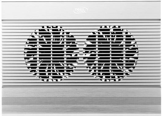 """Подставка для ноутбука 17"""" Deepcool N8 380x278x55mm 4xUSB 1244g 25dB серебристый deepcool охлаждающая подставка для ноутбука deepcool n8 black dp n24n n8bk 17"""